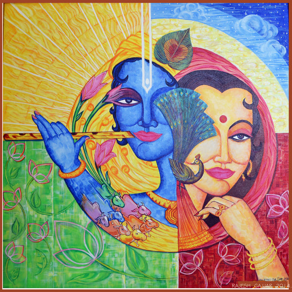 Radha Krishna by Rajesh Gajjar Artist | Tallenge Store | Buy Posters, Framed Prints & Canvas Prints