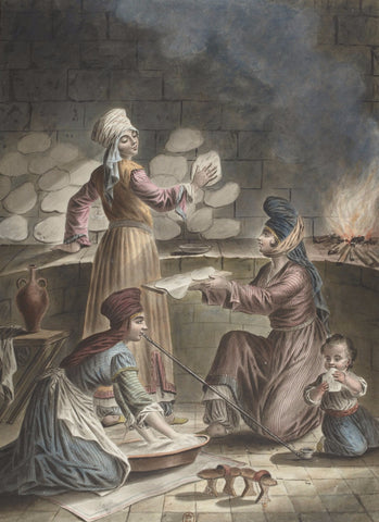 Turkish Women Baking Bread, c. 1790