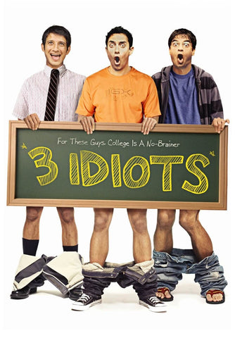 3 Idiots - Aamir Khan - Bollywood Cult Classic Hindi Movie Poster