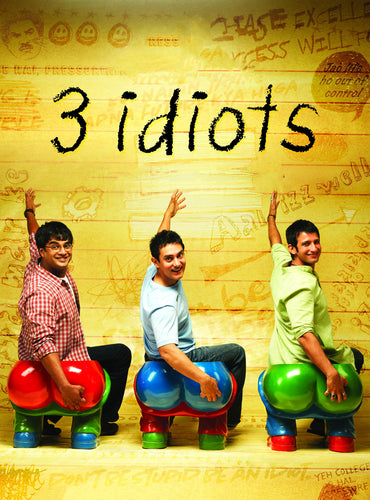 Poster of 3 Idiots - Aamir Khan - Bollywood Modern Classic Hindi Movie Poster by Tallenge Store