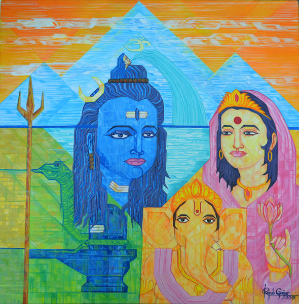 Shiva Family by Rajesh Gajjar Artist | Tallenge Store | Buy Posters, Framed Prints & Canvas Prints