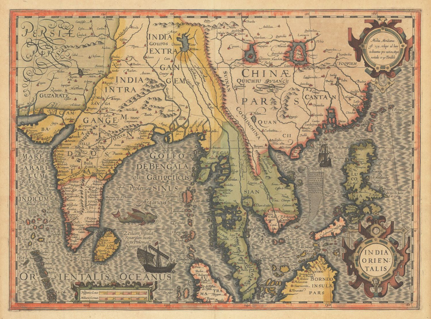 Decorative vintage world map india orientalis jodocus hondius decorative vintage world map india orientalis jodocus hondius 1606 large art prints gumiabroncs Image collections