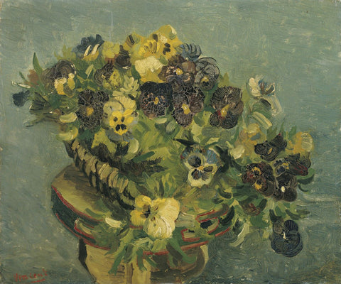 Basket of Pansies - Posters by Vincent Van Gogh