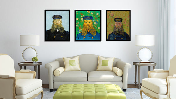 Set Of 3 Postman Portrait Series - Premium Quality Framed Canvas (14 x 18 inches)