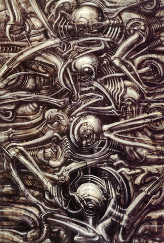 Biomechanical Landscape No 312 by H.R. Giger