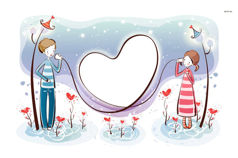 Cartoon Couple Love by Sina Irani