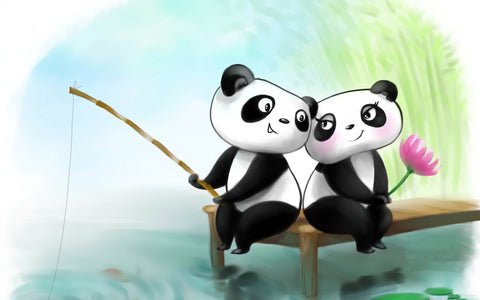Cute Panda Love by Sina Irani