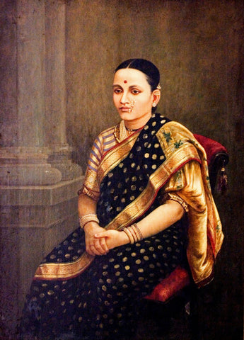 Portrait of a Lady - Posters by Raja Ravi Varma
