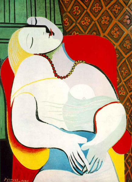 Artwork of The Dream - Pablo Picasso by Pablo Picasso