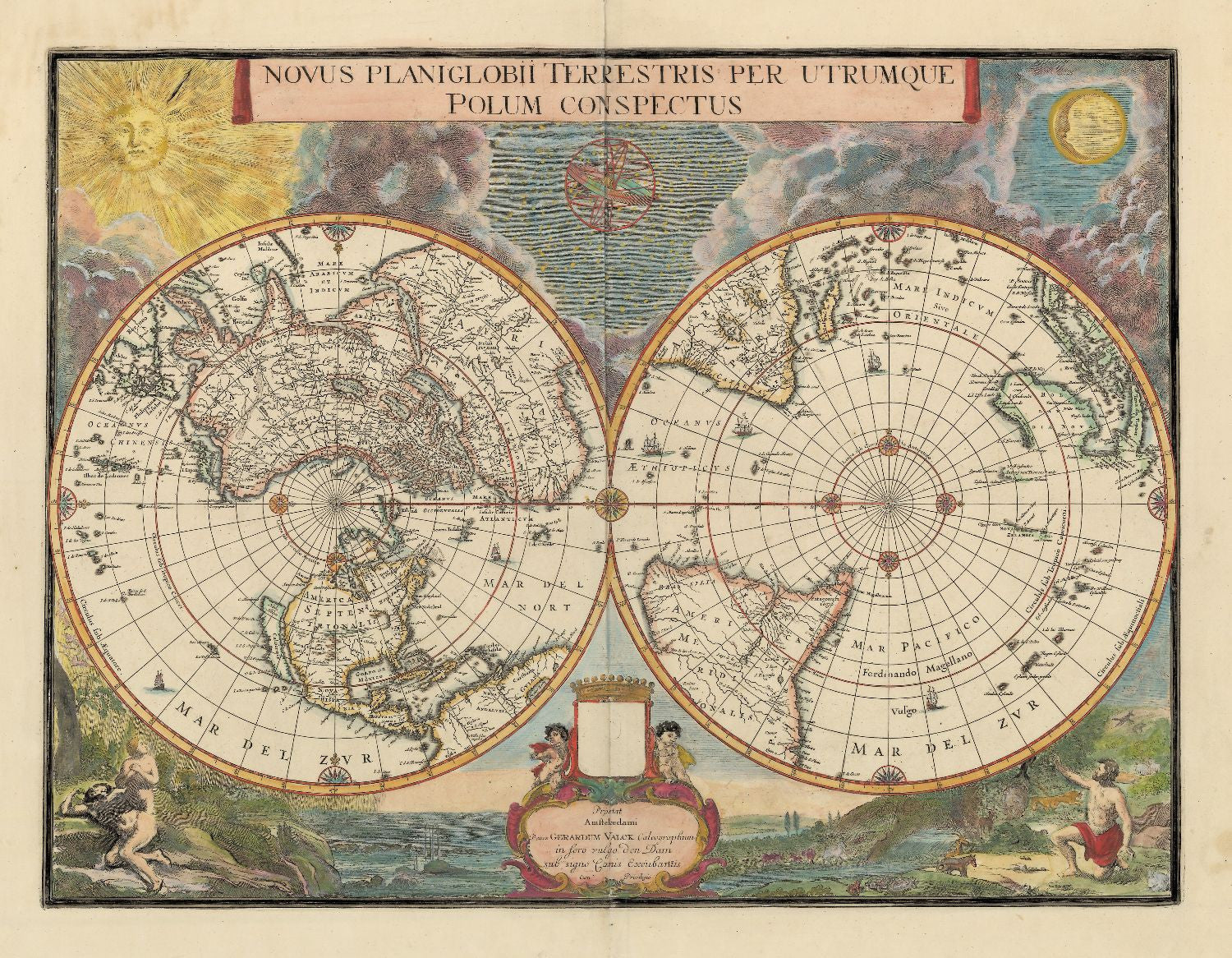 Blaeu World Map.Decorative Vintage World Map Novus Planiglobii Terrestris Blaeu