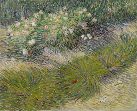 Grass and Butterflies by Vincent Van Gogh