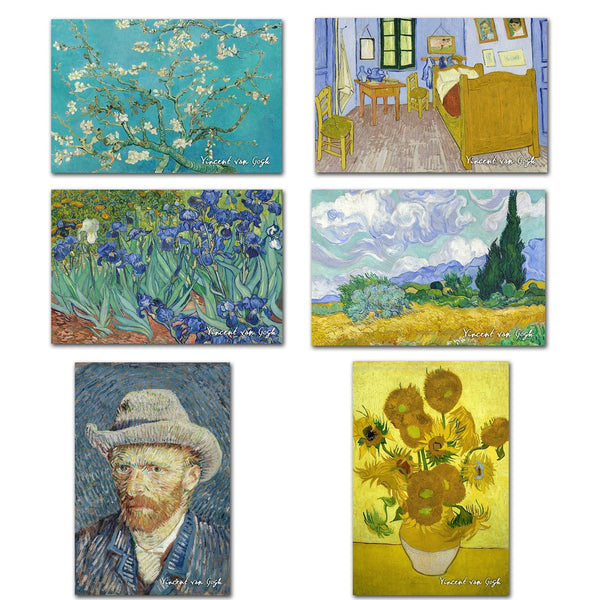 Fridge Magnets of Vincent van Gogh - Set of 6 Fridge Magnets by Vincent van Gogh