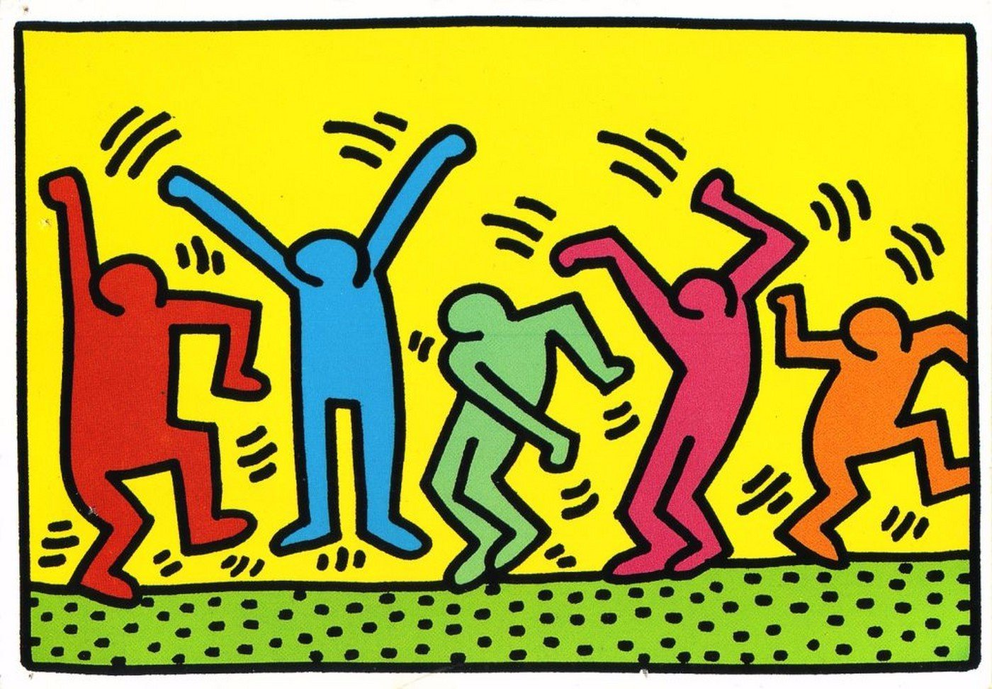 Dancing Figure - Large Art Prints by Keith Haring   Buy Posters ...
