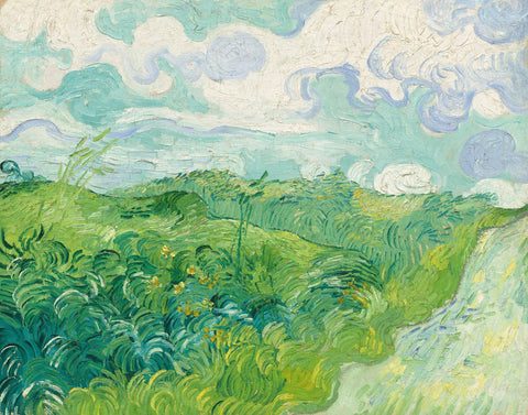 Green Wheat Fields, Auvers - Posters by Vincent Van Gogh