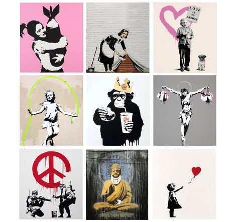 Set of 10 Banksy - Poster Paper (12 x 17 inches) each