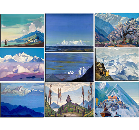Set of 10 Best of Nicholas Roerich Paintings - Poster Paper (12 x 17 inches) each