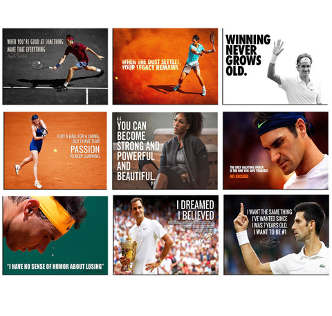 Set of 10 Best of Tennis - Poster Paper (12 x 17 inches) each by Joel Jerry