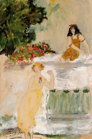 A White Marble Fall Simla - Amrita Sher-Gil - Indian Art Painting by Amrita Sher-Gil