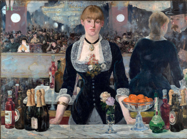 Canvas Prints of A Bar At The Folies-Bergère - Canvas Prints by Édouard Manet