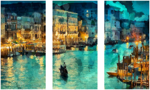 A Beautiful View of Venice - Art Panels