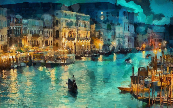 Large Artwork Prints of A Beautiful View of Venice - Large Art Prints by Sina Irani