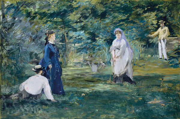 A Game of Croquet by Édouard Manet | Tallenge Store | Buy Posters, Framed Prints & Canvas Prints
