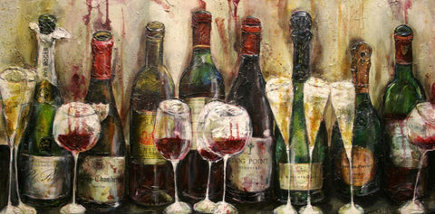 Fine Wine And Champagne Bottles by Deepak Tomar