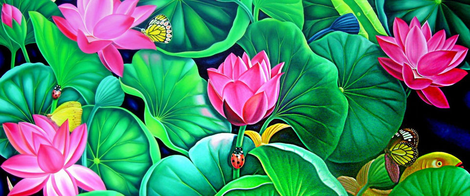 A Lotus Garden by Sina Irani | Buy Posters, Frames, Canvas  & Digital Art Prints