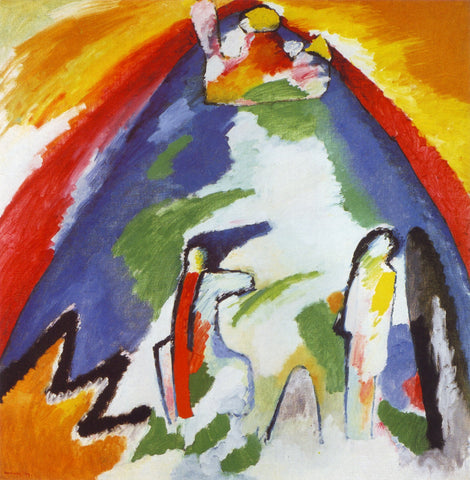 A Mountain by Wassily Kandinsky
