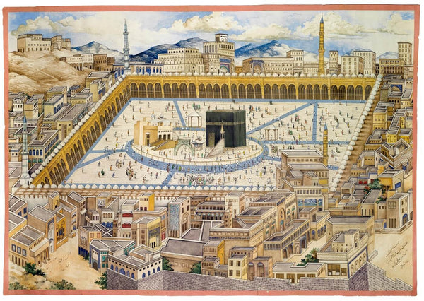 A View of The Ka'aba and Surrounding Buildings in Mecca, Persia, 19th century - Canvas Prints