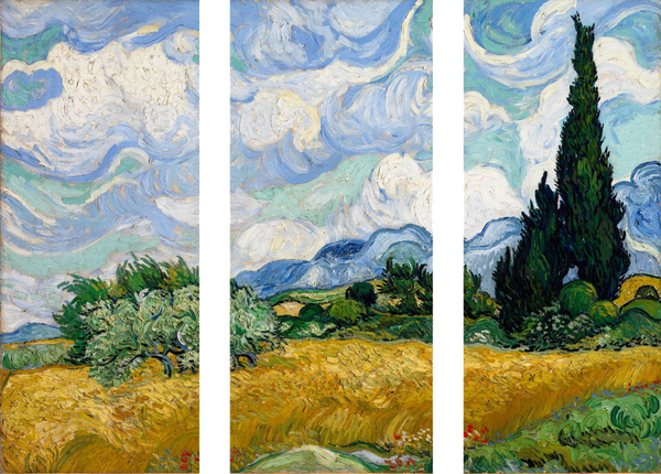 A Wheatfield With Cypresses by Vincent van Gogh - Art Panels