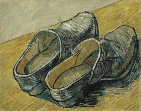 A Pair of Leather Clogs - Canvas Prints