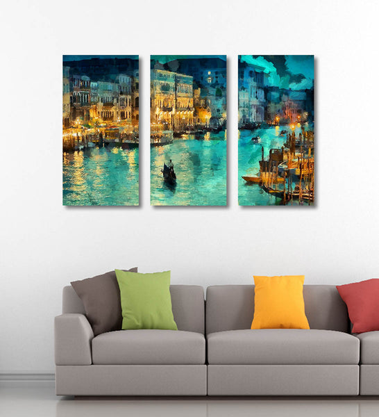 Artwork Panels of A Beautiful View of Venice - Art Panels by Sina Irani
