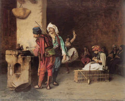 A Cafe in Cairo - Jean Leon Gerome by Jean Leon Gerome