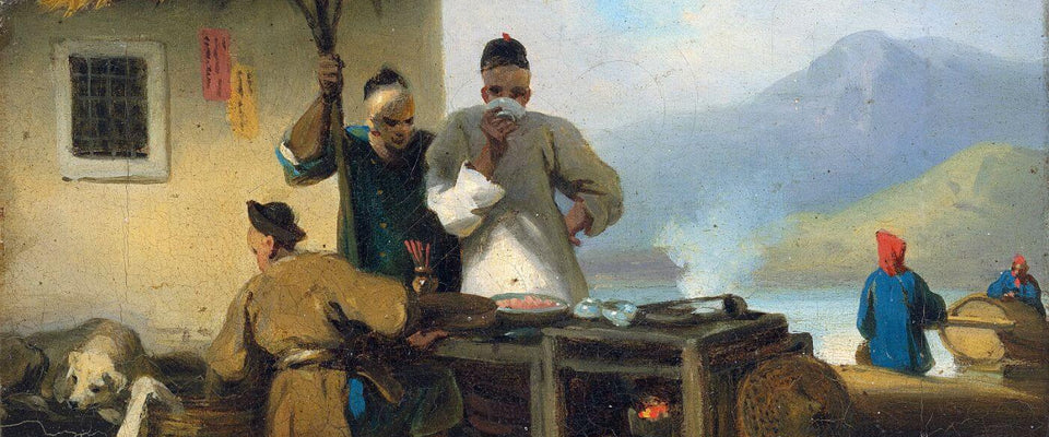 A Chinese Foodstall In Macao - George Chinnery - Vintage Orientalist Painting by George Chinnery | Buy Posters, Frames, Canvas  & Digital Art Prints