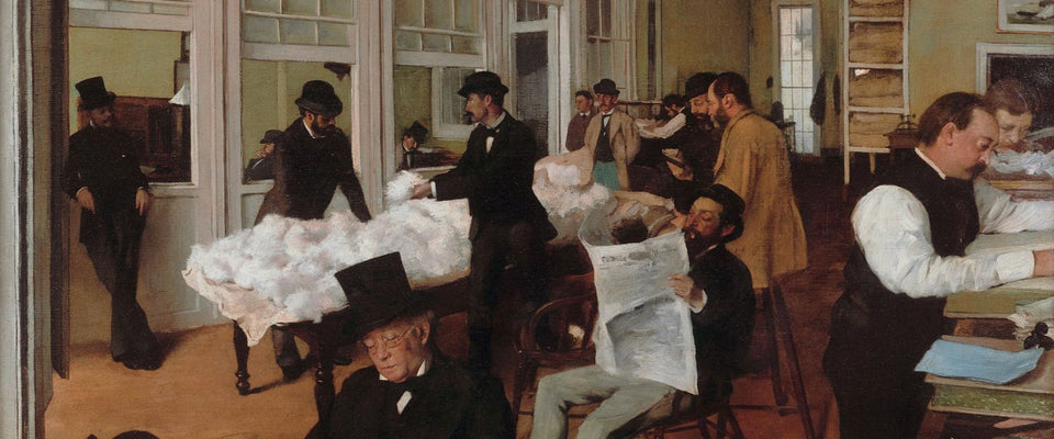 A Cotton Office In New Orleans by Edgar Degas | Buy Posters, Frames, Canvas  & Digital Art Prints