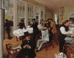 A Cotton Office In New Orleans by Edgar Degas | Tallenge Store | Buy Posters, Framed Prints & Canvas Prints