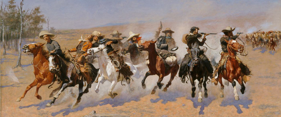 A Dash For The Timber - Frederic Remington by Frederic Remington | Buy Posters, Frames, Canvas  & Digital Art Prints