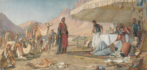 A Frank Encampment in the Desert of Mount Sinai, 1842 – The Convent of St. Catherine in the Distance - Canvas Prints