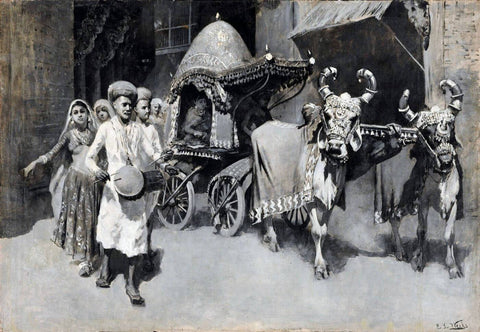 A Marriage Procession in India - Edwin Lord Weeks - Vintage Indian Orientalist Painting - Posters