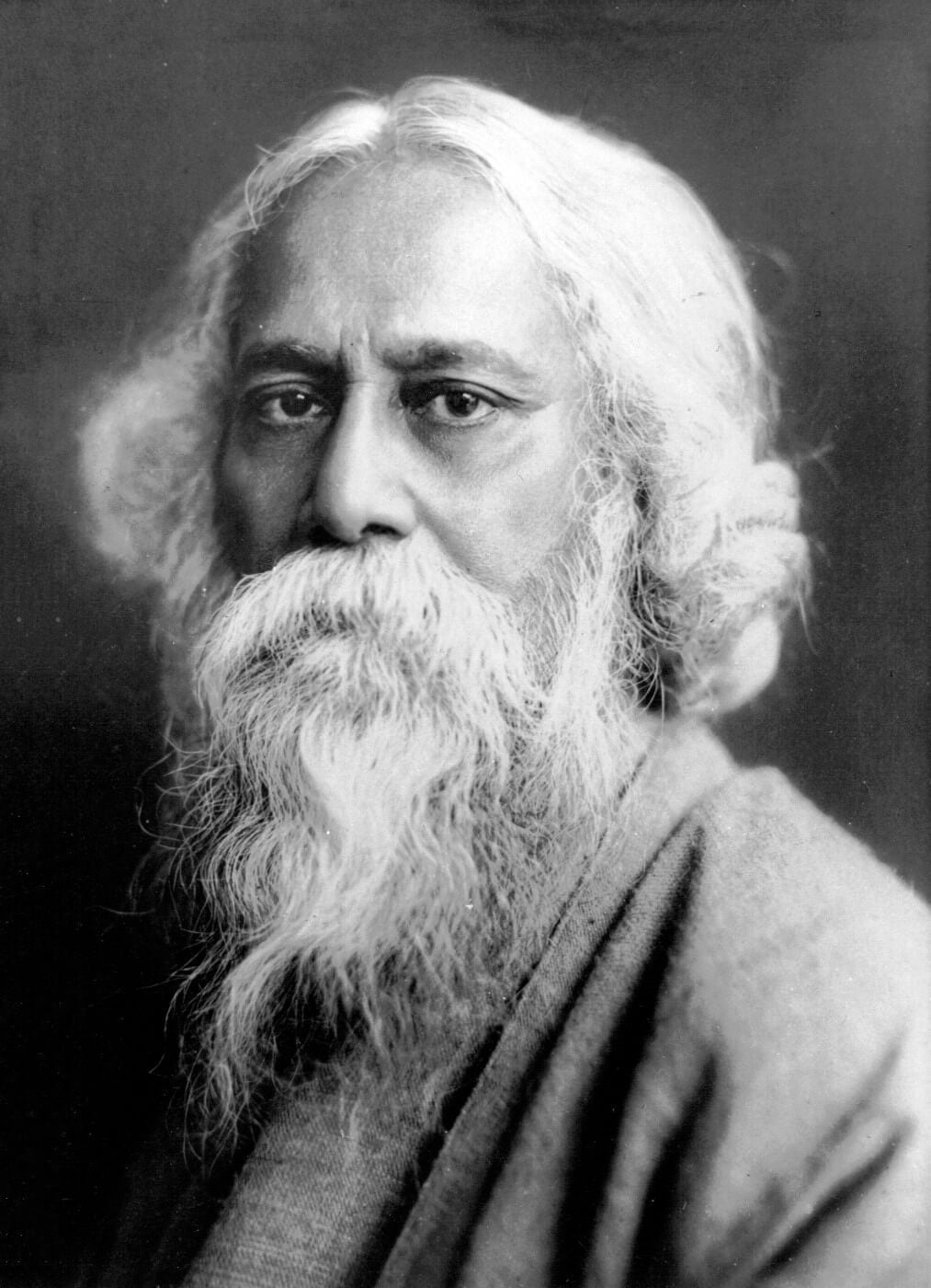 A Portrait Of Gurudev Rabindranath Tagore Framed Prints