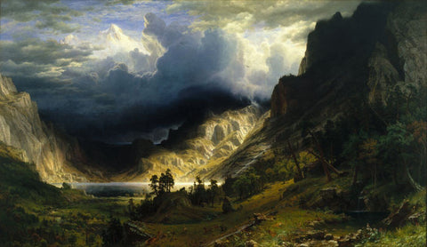 A Storm in the Rocky Mountains, Mt. Rosalie - Albert Bierstadt - Landscape Painting