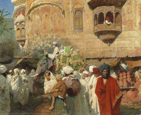 A Street In Jodhpur, India by Edwin Lord Weeks