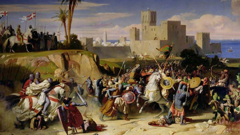 A battle Scene From The Third Crusade