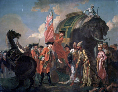 Robert Clive And Mir Jafar After The Battle Of Plassey, 1760 - Francis Hayman