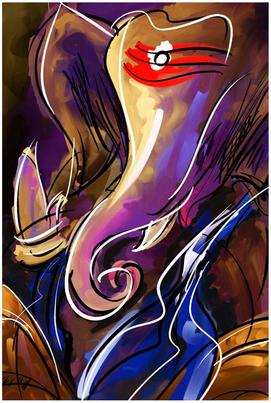 Abstract Art - MahaGanpati Vinayak - Ganesha Painting Collection