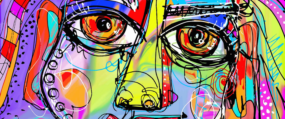 Abstract Face Of A Girl by Sina Irani | Buy Posters, Frames, Canvas  & Digital Art Prints