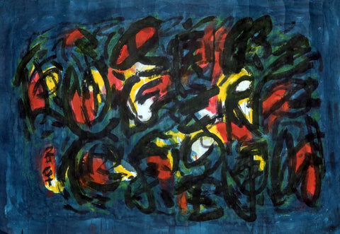 Abstract Calligraphy Painting