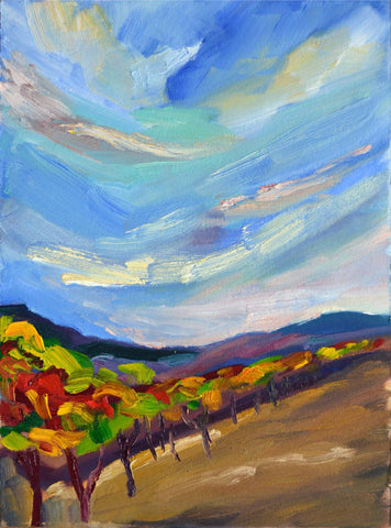 Abstract Landscape Painting - The Vineyard