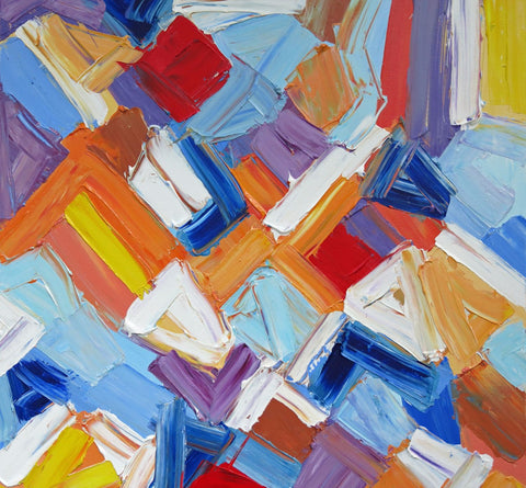 Abstract Painting - Mosaic - Large Art Prints